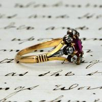 The Antique Victorian Ruby & Ten Diamond Ring (4 of 5)