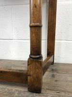 Vintage Oak Side Table with Drawer (3 of 11)