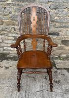Pair of Antique Broad Arm Windsor Chairs (7 of 28)