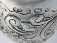 Edwardian Silver Goblet with Knobbed Stem & Plain Splayed Circular Foot (6 of 6)