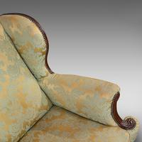 Antique Wing-Back Armchair, English, Lounge, Fireside, Seat, Edwardian c.1910 (4 of 12)