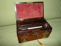 Dome Top Fitted Walnut Stationery Box c.1875 (11 of 11)