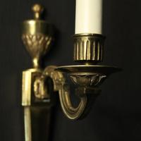 French Brass Single Arm Antique Wall Lights (4 of 7)