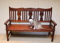 Edwardian Style Mahogany Bench (6 of 11)