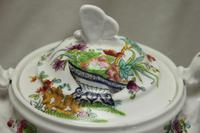 Ridgway Hand Coloured Porcelain Lidded Sugar Bowl (2 of 4)