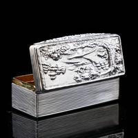 Georgian Solid Silver Snuff Box with Pheasant Scene - Thomas Shaw 1834 (11 of 28)