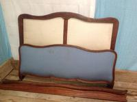 Vintage French Walnut 5ft 155cm Capitone Double King Size Bed (5 of 6)