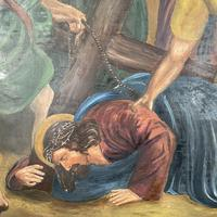 Antique French Religious Oil Painting Study of One of the Stations of the Cross (4 of 10)