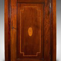 Antique Corner Cabinet, English, Mahogany, Walnut, Inlay, Georgian c.1800 (5 of 12)