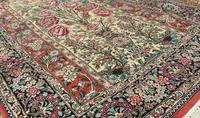 Fine Silk Carpet Rug Roses (5 of 9)