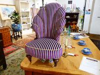 Unusual French 19th Century Upholstered Child's Chair (7 of 7)
