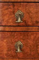 Geo Style Walnut 6 Drawer Bowfront Chest Circa 1920s (7 of 8)