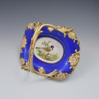 Fine & Large Alcock Rococo Porcelain Ornithological Basket c.1845 (9 of 17)