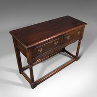 Antique Dresser Base, English, Oak, Side, Hall, Table, Late Georgian c.1800 (7 of 10)