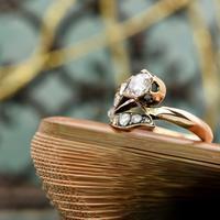 The Antique Victorian Eleven Diamond Tulip Ring (5 of 5)