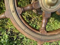 Oak & Brass Ships Wheel (5 of 11)