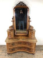 Antique 19th Century Concave Mahogany Dressing Table (10 of 21)