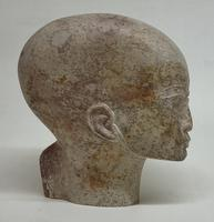 Egyptian Sculpted Alabaster Head (2 of 6)