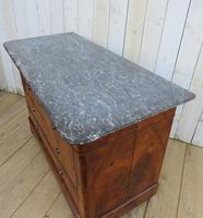 Antique Burr Walnut & Marble Top Chest Of Drawers (3 of 9)