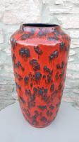Vintage 1960s Fat Lava Floor Vase Europ Linie Scheurich Keramik WGP