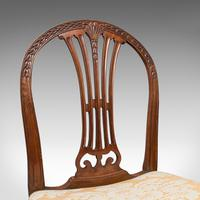 Pair of Antique Hepplewhite Revival Side Chairs, English, Seat, Victorian, 1890 (9 of 12)