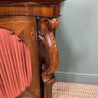 Spectacular Figured Rosewood Serpentine Victorian Antique Credenza (3 of 8)