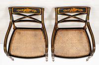 Pair of Ebonised Regency Style Open Armchairs (8 of 9)