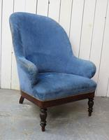 Antique French Empire Library Armchair (5 of 9)
