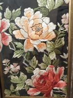 Late 19th Century Framed Silk Embroidery (4 of 4)