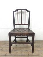 Pair of Antique Carved Oak Hall Chairs (4 of 13)