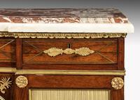 Regency Period Goncalo Alves Side Cabinet of Slightly Inverted Breakfront Form (5 of 8)