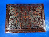English Boulle & Brass Kingwood Edged Jewellery Box (5 of 16)