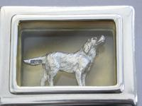 Early 20th Century Parcel Gilt Silver Table Vesta Case with Internal Cast Silver Spaniel by Goldsmiths & Silversmiths, London, 1912 (19 of 20)