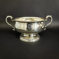 Silver Twin Handled Punch Bowl