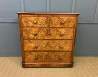 Victorian Burr Walnut Chest of Drawers (7 of 13)
