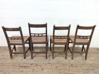 Harlequin Set of 19th Century Welsh Oak Ball & Rail Back Chairs (10 of 11)