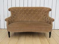 Antique French Napoleon III Button Back Sofa (2 of 9)