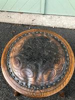 Arts & Crafts Oak & Leather Stool (4 of 7)