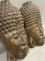 Pair of c19th Carved Indian Masks (6 of 6)