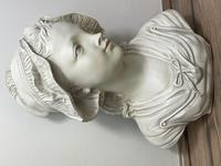 French Classical Young Lady Wearing Bonnet Wall Sculpture (9 of 20)