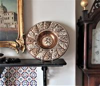 Gordon Forsyth, Copper Lustre Earthenware Shallow Footed Dish in Hispano Moresque Style c.1930 (7 of 8)