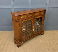 Burr Walnut Bookcase or Side Cabinet (9 of 18)