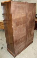 1920s 2 Door Art Deco Mahogany Wardrobe All Hanging (2 of 4)