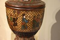 Tibetan Champlevé / Enamel & Bronze Lamp (5 of 5)