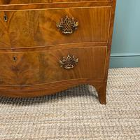 Stunning Georgian Mahogany Antique Serpentine Front Chest of Drawers (9 of 10)