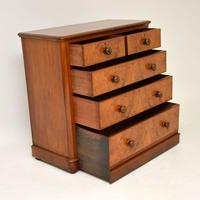 Antique Victorian Burr Walnut Chest of Drawers (5 of 9)