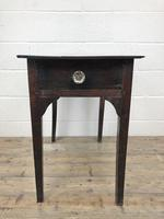 Antique Georgian Oak Side Table with Drawer (11 of 13)