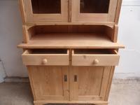Mint Clean Victorian Antique Pine 2 Door Kitchen Dresser to wax /paint (8 of 10)