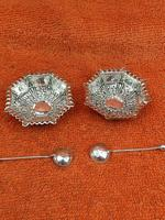 Antique Sterling Silver Pair of Salts & Matching Spoons 1899 William Devenport (4 of 12)