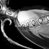 Antique Victorian Solid Silver Wine Ewer / Claret Jug - Barnard 1872 (12 of 19)